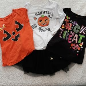 Toddler Girl Halloween 4 piece lot